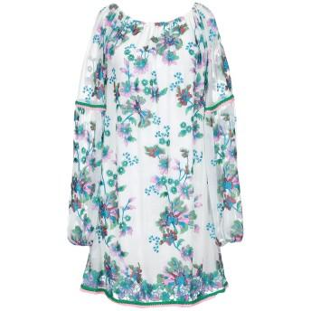 《セール開催中》TAJ by SABRINA CRIPPA レディース ミニワンピース&ドレス ホワイト S シルク 100%