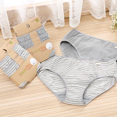 【黛安芬】eco chic 竹炭原棉系列 平口褲包兩件組M-EL(經典灰)