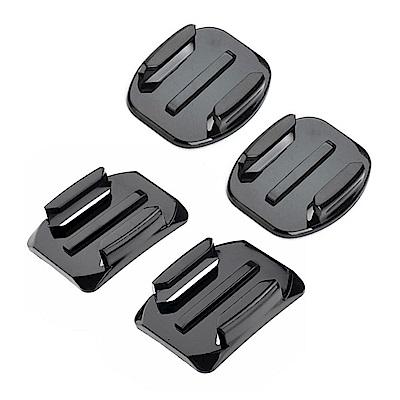 GoPro 副廠 平面黏著座(2入)+弧面黏著座(2入)-附贈背膠