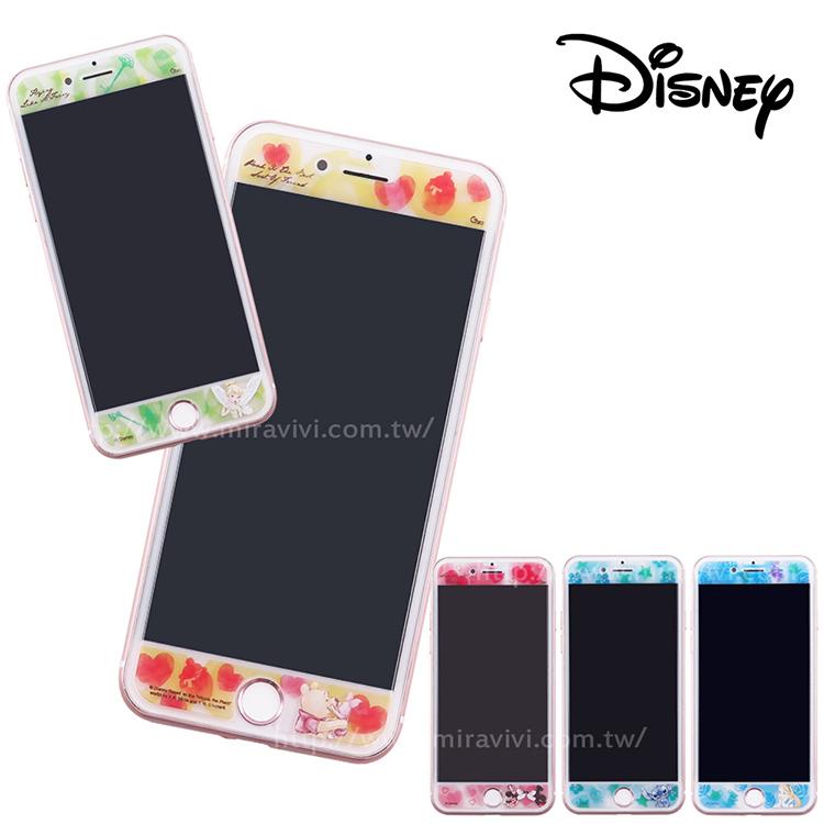 Disney迪士尼iPhone6/6s/7/8 Plus(5.5)共用 水彩渲染9H強化玻璃保護貼_經典
