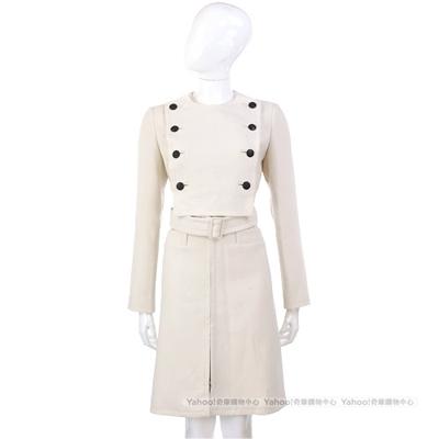 PAOLA FRANI 米白色排釦大衣(附腰帶)