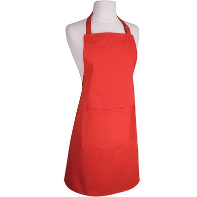 NOW 平口單袋圍裙(紅)