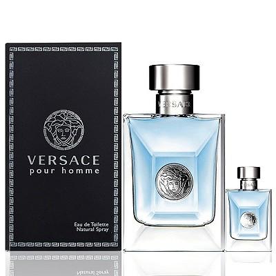 Versace Pour Homme 凡賽斯經典男性淡香水 100ml 搭贈同款小香5ml
