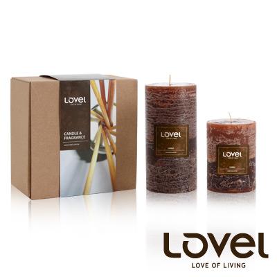 【LOVEL】香氛手工蠟燭組(雙層咖啡糖-檀香木)