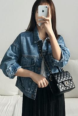 韓國空運 - Boarding short denim jacket 夾克