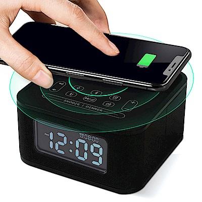 HOmtime D2qi 藍牙無線充電音箱 Qi無線充電座鬧鐘