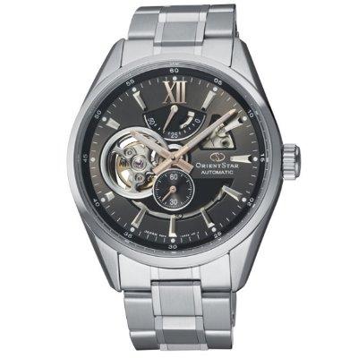 ORIENT STAR 東方之星 OPEN HEART系列 鏤空機械錶 鋼帶款 灰色 RE-AV0004N