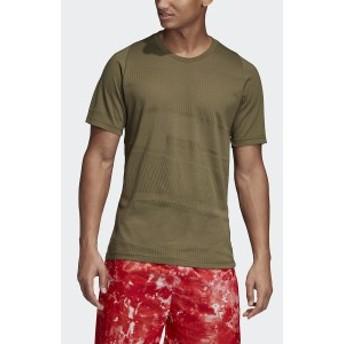 【セール】 アディダス メンズスポーツウェア 半袖シャツ M ID ジャガード Tシャツ FRX72 DP3125 メンズ ローカーキS19