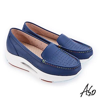 A.S.O 阿瘦 超能力氣墊系列 機能休閒鞋 深藍 10029000605-89
