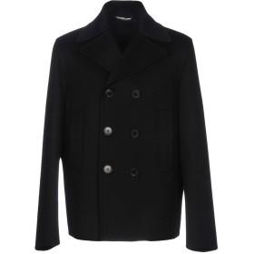《期間限定セール開催中!》VALENTINO メンズ コート ブラック 50 バージンウール 90% / カシミヤ 10% / キュプラ
