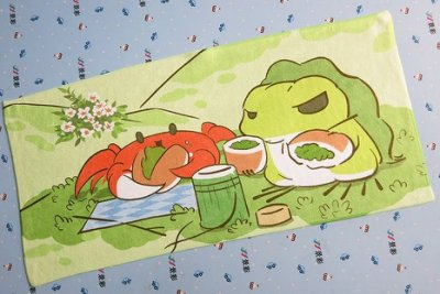 YR63【30*30cm旅行青蛙超細纖維沙灘創意手帕巾】手帕 純棉 嬰兒洗澡洗臉口水小方巾 兒童小方巾 毛巾 手帕 擦手