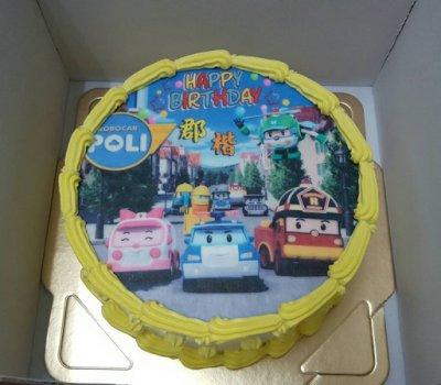 六吋 客製化  波力 安寶 羅伊 變型赫力 生日 相片 卡通   造型  蛋糕