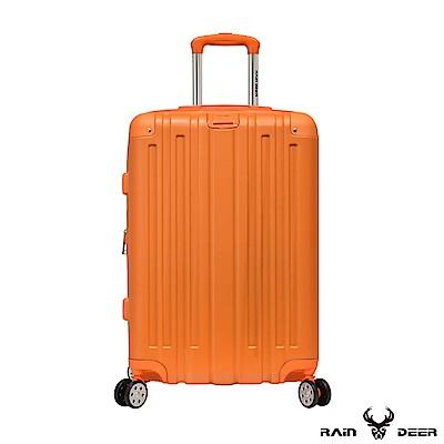 RAIN DEER 克萊爾28吋ABS鑽石紋防刮行李箱-亮麗橘