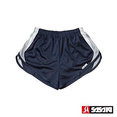 SASAKI 吸濕排汗田徑短褲-男-丈青/灰/白