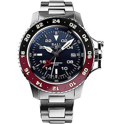 BALL波爾工程師碳氫系列AeroGMT II腕錶(DG2018C-S3C-BK)