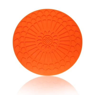 Quasi蔓舞矽膠圓熱墊-橘
