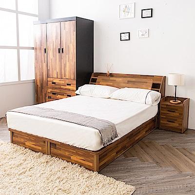 時尚屋 喬納斯5尺床箱型3件房間組-床箱+床底+床墊(不含床頭櫃)