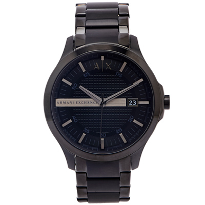 A/X Armani Exchange 黑色時尚風鋼帶手錶 AX2104