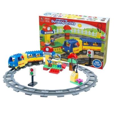 幼兒積木 - 電動火車積木組合(大顆粒積木)