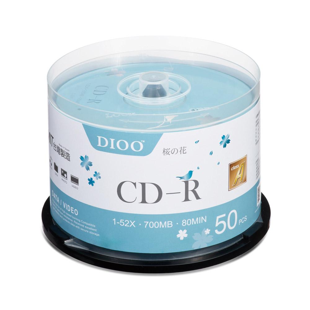 【12入】DIOO 櫻花版 52X CD-R 50片桶(600片)