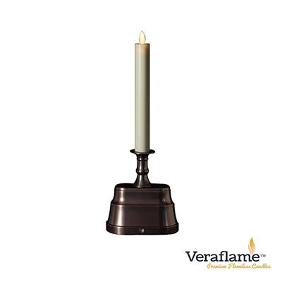 Veraflame 擬真火焰長條蠟燭台- 13吋(古銅)