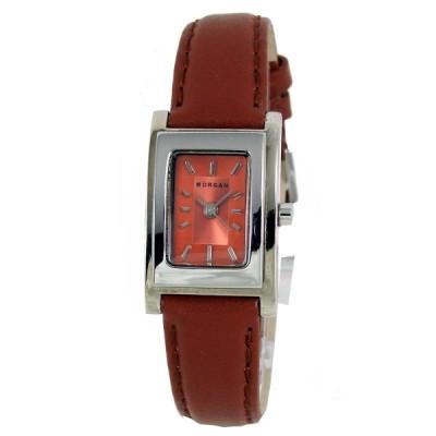 MORGAN 現代城市建築時尚女腕錶-橘/20mm
