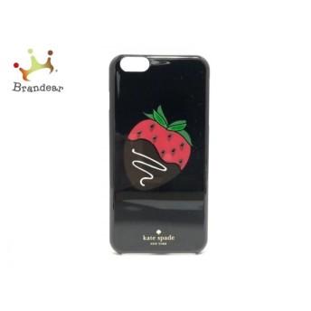 ケイトスペード 携帯電話ケース 美品 黒×レッド×マルチ イチゴ/iPhoneケース プラスチック 新着 20190618