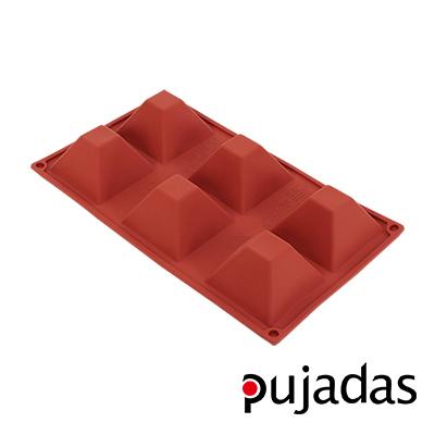 西班牙pujadas矽膠6格點心膜(金字塔型)