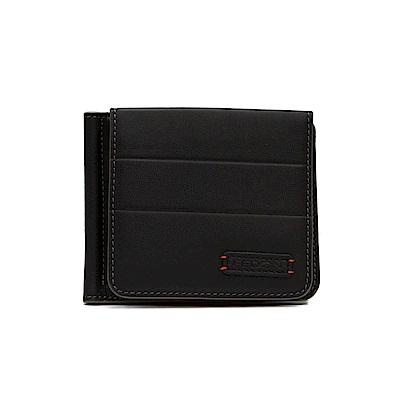 FEDON 1919 Ninja 14卡雙色錢夾式短夾-黑咖