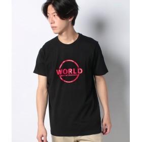【37%OFF】 ジョルダーノ [GIORDANO]プリント半袖Tシャツ メンズ ブラック M 【GIORDANO】 【セール開催中】