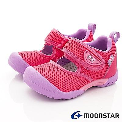 日本月星頂級童鞋 2E速乾款 TW2264桃紅(寶寶段)
