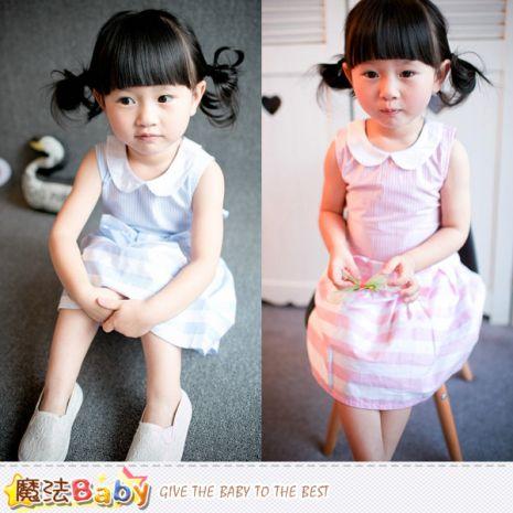 魔法Baby~女童裝 女童無袖洋裝~K41917藍130