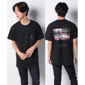 ワンデイケイエムシー DELUSION LAND / RUB TEE メンズ ブラック F 【ONEDAY KMC】