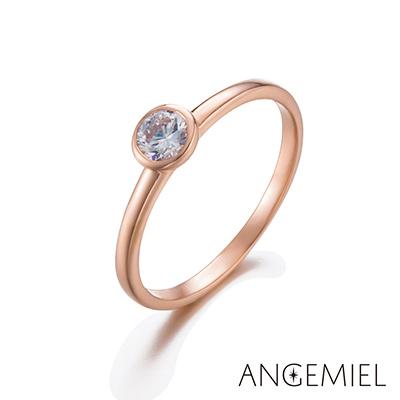 Angemiel安婕米 925純銀戒指 奇蹟(玫瑰金)