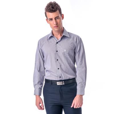 【金安德森】黑白細線條長袖襯衫