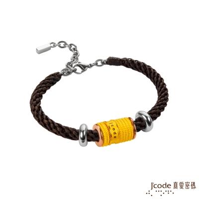 J code真愛密碼金飾 交織黃金編織手鍊
