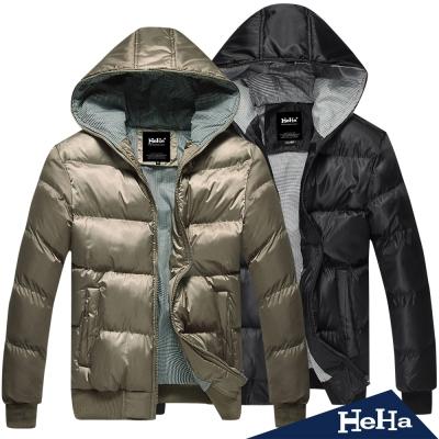 外套 加厚鋪棉保暖連帽外套 二色-HeHa