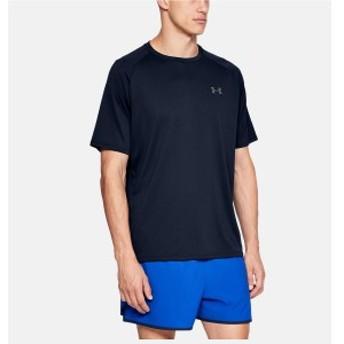 アンダーアーマー メンズスポーツウェア 半袖ベーシックTシャツ 19S UA TECH SS TEE 1326413 408 メンズ ADY/GPH