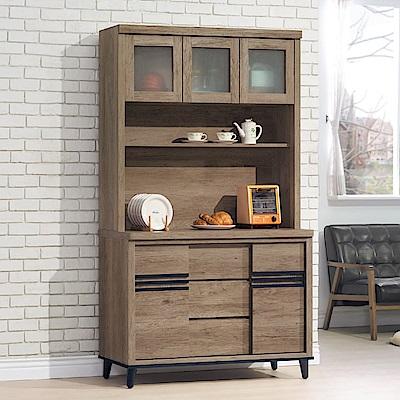 MUNA 古橡木色4尺餐櫃(全組)  119X47X198cm