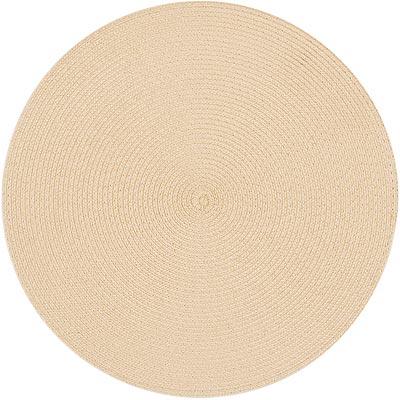 《EXCELSA》素面織紋圓餐墊(奶油米)