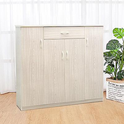 Boden-防潮防蛀 防水塑鋼4.3尺四門一抽鞋櫃(五色可選-128x34x117cm