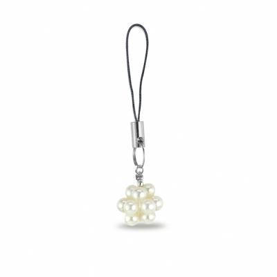 City Diamond引雅  手作設計系列 天然人造珍珠手機吊飾