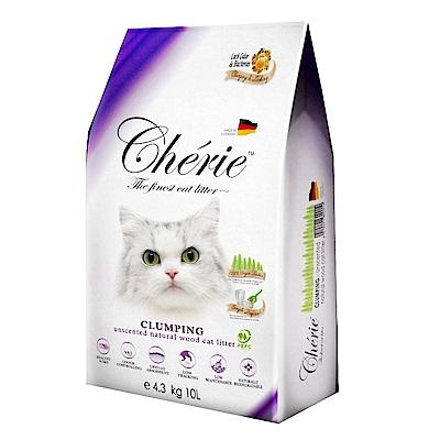 德國Cherie法麗有機凝結杉木貓砂 4.3kg/10L(2包組)