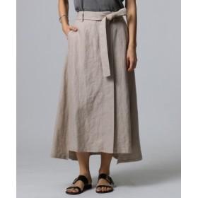(JET/ジェット)◆【洗える】リネンラップデザインスカート/レディース ライトベージュ(051) 送料無料