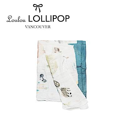 加拿大Loulou lollipop 竹纖維透氣包巾120x120cm-美國洛杉磯