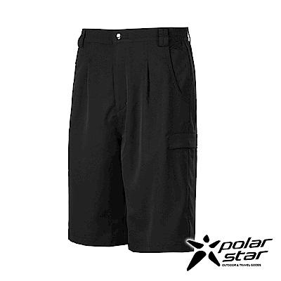 PolarStar 男排汗快乾打褶短褲『黑』P17309