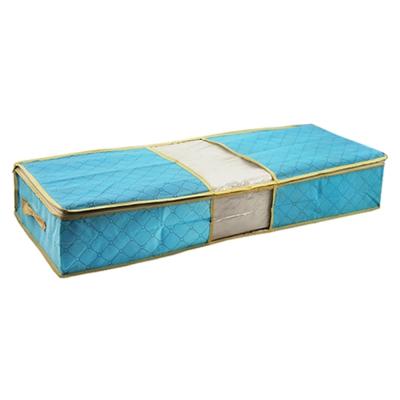 85X40竹炭彩色透明視窗床下棉被衣物收納袋整理箱