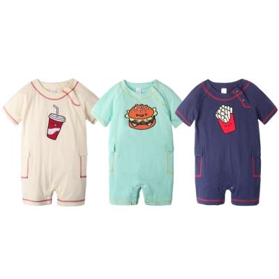 baby童衣 寶寶爬服 短袖純棉刺繡連身衣 60012