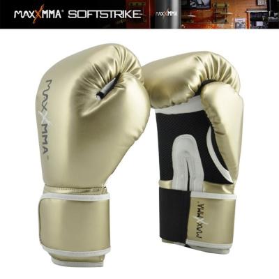 MaxxMMA 戰鬥款拳擊手套(土豪金)12盎司-散打/搏擊/格鬥/拳擊