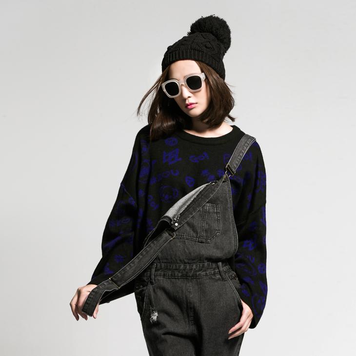 ANNWU聯名系列~印花針織短上衣‧2色